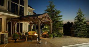 Lodge 14.5 Ft. W x 15 Ft. D Solid Wood Pergola