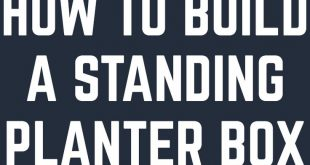 HOW TO BUILD A STANDING PLANTER BOX