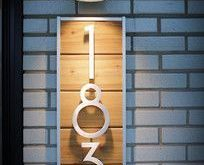 House Numbers Design Ideas, Pictures, Remodel and Decor Hausnummern Design-Ideen...