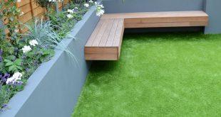 Leben im Freien mit modernen Outdoor-Bank Inspiration #OutdoorBench #Siting #Livi ... #frei...