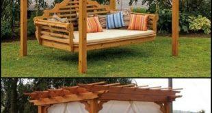 Legende Außen Cedar Swing Bed & Pergola