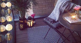 Balkondekoration für kleine Räume