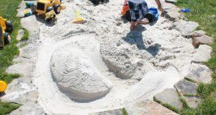 Garten für Kinder-organischer Sandkasten aus Steinen - #aus #für #Garten #Kind...