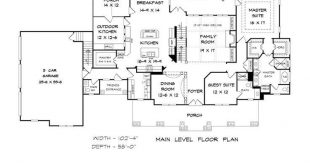 Traditional Style House Plan Number 58272 with 4 Bed, 5 Bath, 3 Car Garage