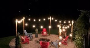 45 awesome diy fire pit plans ideas with lighting in frontyard 3 ~ Litledress