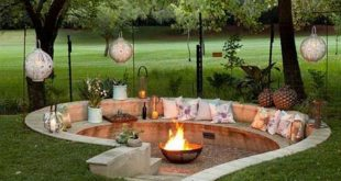 Admirable Sunken Fire Pit Ideas To Steal for Cozy Nights