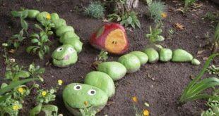Basteln mit Kindern – Gartendeko selber machen - #basteln #Gartendeko #Kinde...