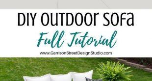 DIY Outdoor Sofa Vollständige Anleitung | © ️️️️️GarrisonStree ... #...