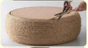 groß gardenfuzzgarden.com DIY Sitzgelegenheiten im Freien mit Reifen und Seil