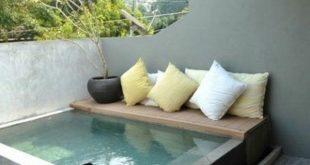 kleiner oberirdischer Pool, schöne Außenbereiche